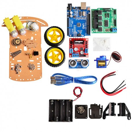 Kit Robot Inteligente Chassis 2WD Motor Arduino