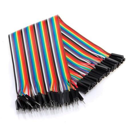 Cables DuPont 20cm 40p Macho Hembra para modulos Arduino Raspberry etc