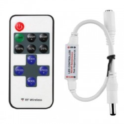 Mini Controlador Wireless RF Remoto Para Tira Led Dimmer SMD5050