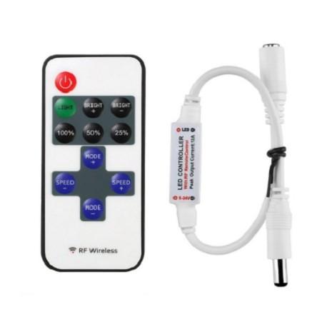 Mini Controlador Wireless RF Remoto Para Tira Led Dimmer SMD5050