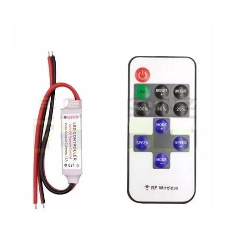 Controlador Inalambrico de Tiras Led Mono + Control 12A 5V-24V