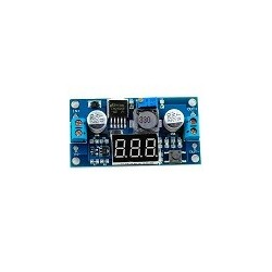 Regulador de Voltaje Step down DC-DC LM2596 Con voltimetro