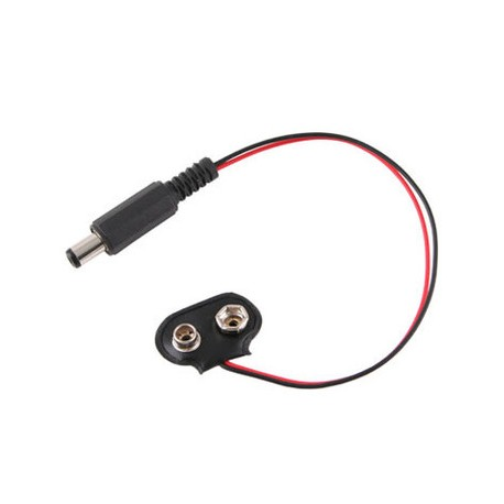 Cable Poder Macho A Bateria 9v Para Arduino, Pic, Etc