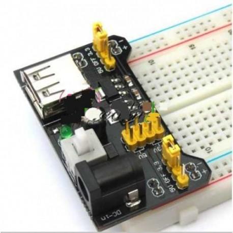Modulo Alimentación Breadboard 3.3V 5V MB102 Arduino